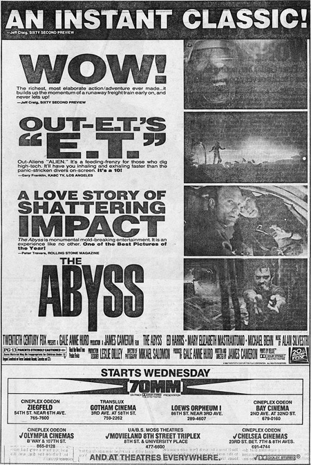 Abyss newspaper ad
