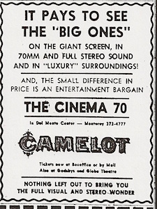 Camelot newspaper ad