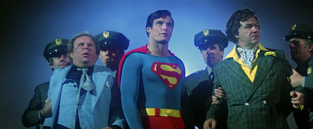 A screenshot from Superman: The Movie