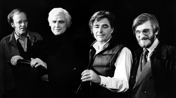 Tom Mankeiwicz, Marlon Brando, Director Richard Donner, Pierre Spengler