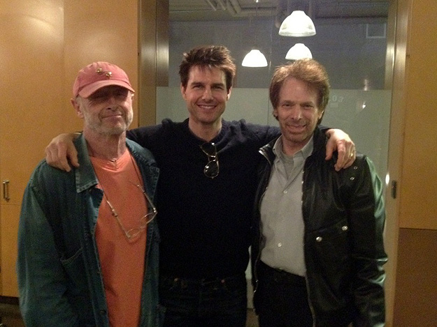 L to R: Tony Scott, Tom Cruise and Jerry Bruckheimer