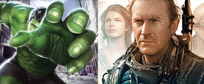 Universal sets Ang Lee's Hulk (2003) and Kevin Reynolds' Waterworld (1985) for 4K Ultra HD release on 7/9