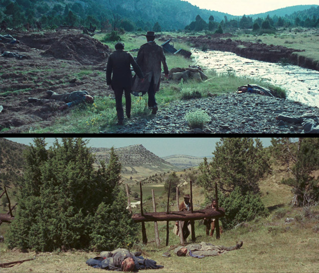 A comparison of two shots from the Kino disc