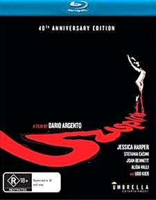 Suspiria: 40th Anniversary Edition (Blu-ray Disc)