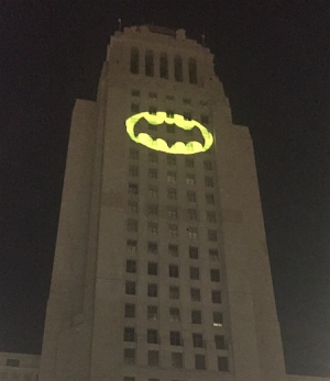 L.A. lights the Bat Signal for Adam West