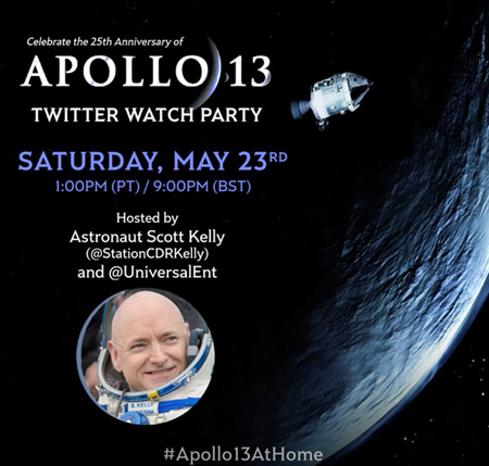Watch Apollo 13 with NASA astronaut Scott Kelly!