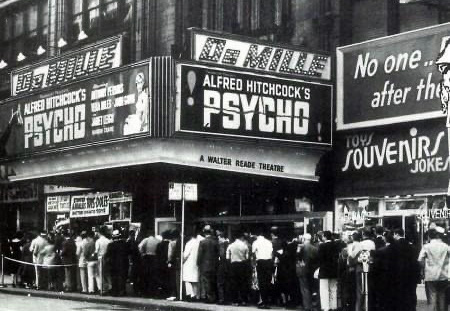 The audience lines up to see Psycho