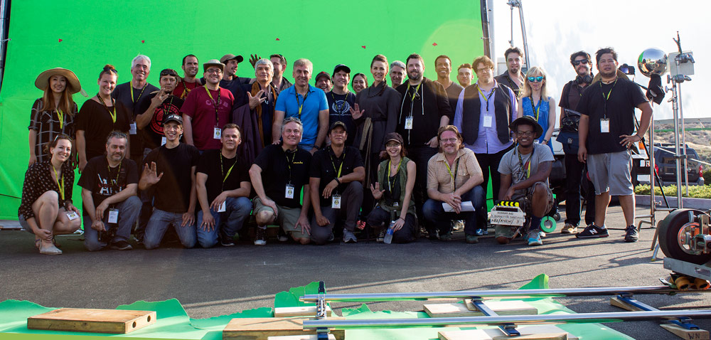 The Cast & Crew of Axanar at the end of Production Day #1 - photo by Aaron Harvey