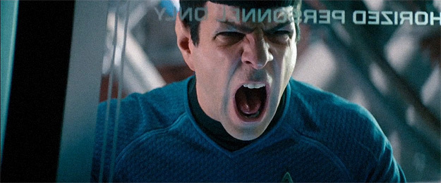 Spock reacts to the Star Trek Into Darkness Blu-ray