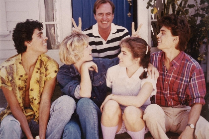 Wes Craven and cast of Nightmare 1